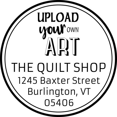 Custom Art Round Return Address Stamp