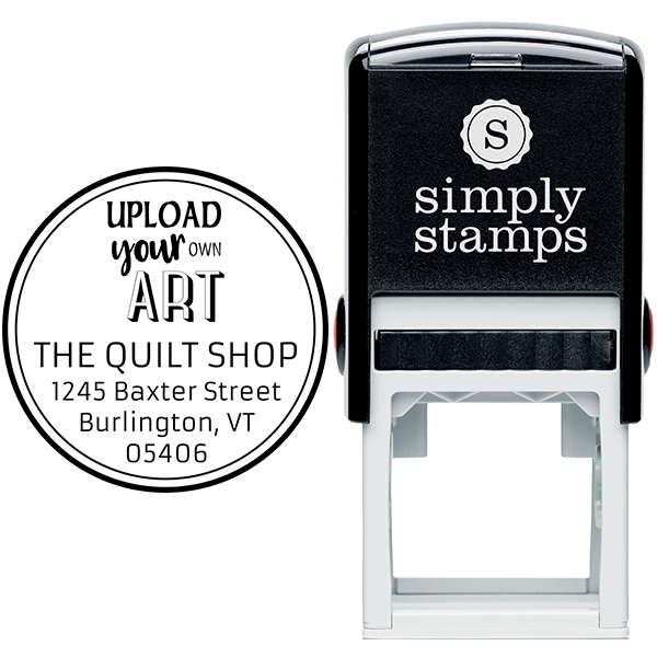 Custom Art Round Return Address Stamp Body and Design