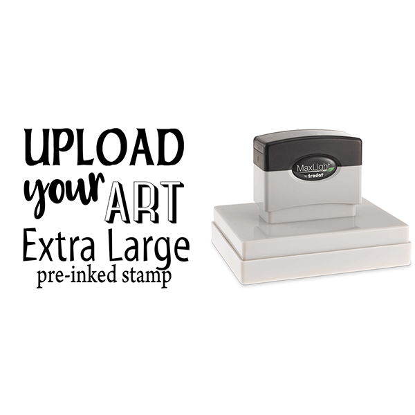 Upload Your Art Extra Large Pre-Inked Stamp Body and Design