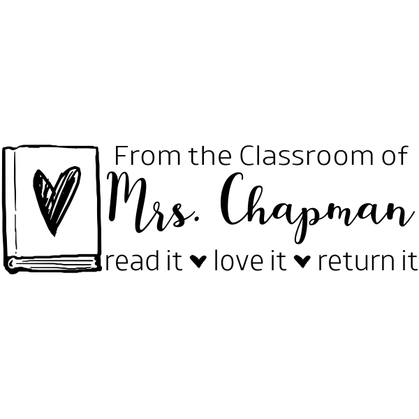 From The Classroom Love Books Teacher Stamp