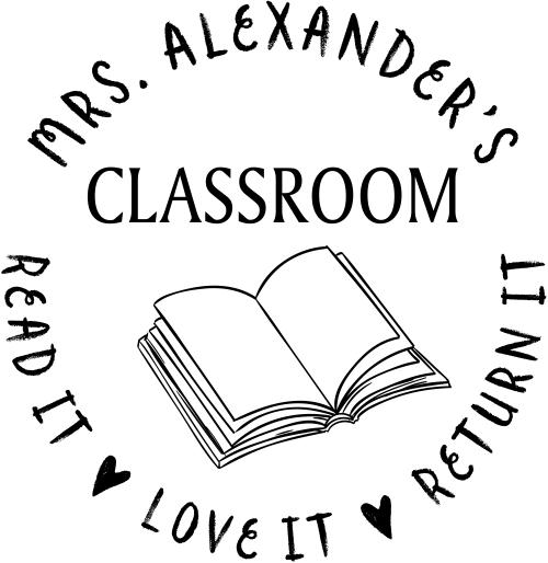 Teacher Classroom Borrowed Book Stamp