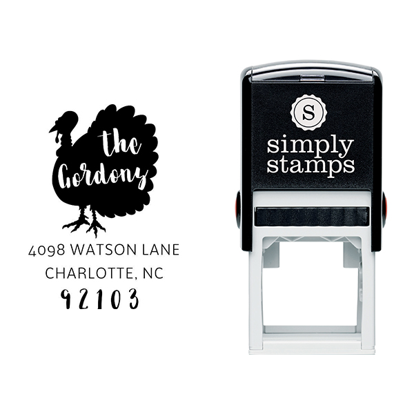 Turkey Custom Animal Return Address Stamp Body and Design