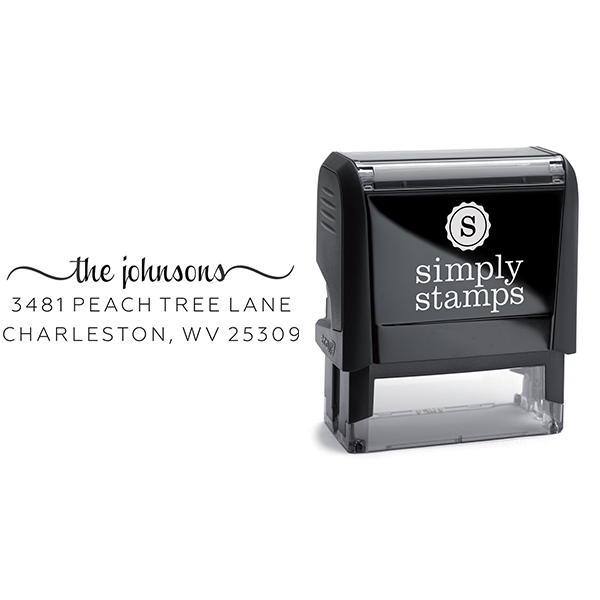 Charleston Return Address Stamp to Fit Wood Box Imprint Example