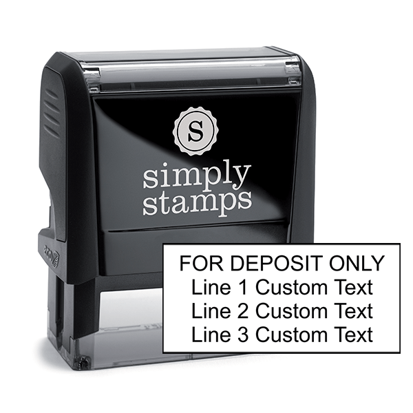 4 Line Self Inking For Deposit Stamp