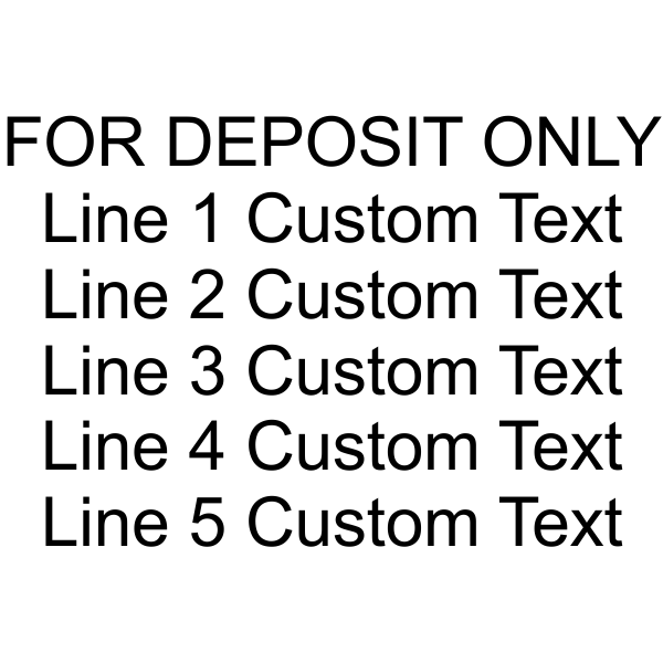 6 Line For Deposit Self Inking Stamp