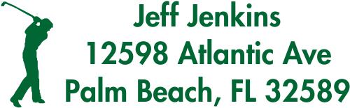 Golfer Address Stamp