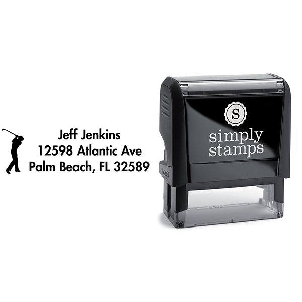 Golfer Address Stamp Body and Imprint