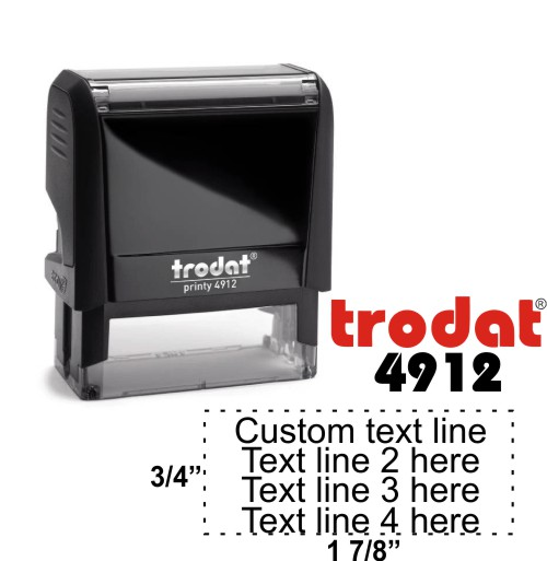 Trodat Printy   Ideal 4912 Self-Inking Stamp - Simply Stamps