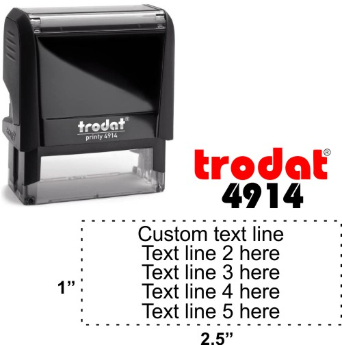 Trodat Printy | Ideal 4913 5 Line Self-Inking Stamp - Simply Stamps