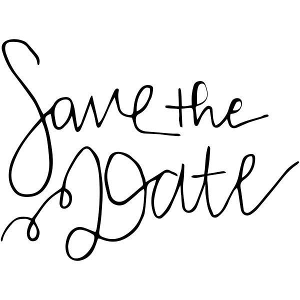 Hand Lettered Save the Date Stamp