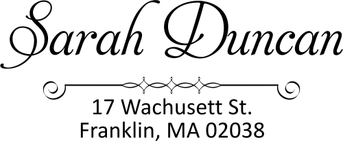 Duncan Handwritten Address Stamp