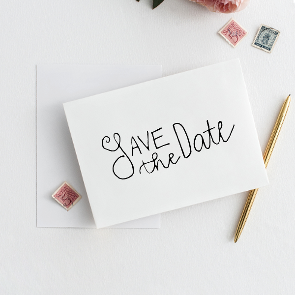 Simple Save the Date Stamp Imprint Example