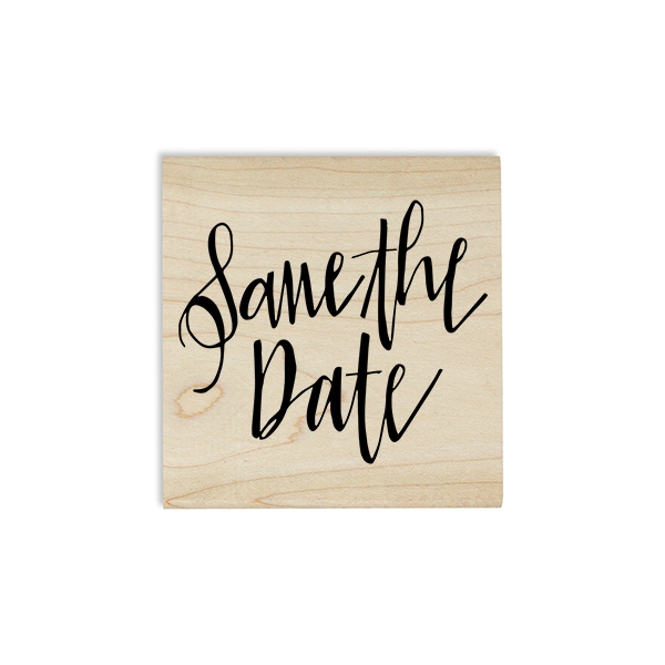 Glam Save the Date Stamp Design on Stamp Body