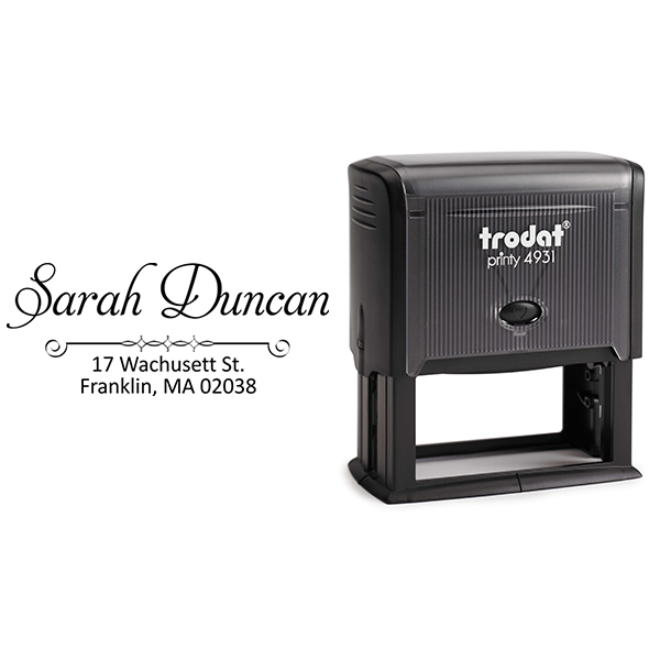 Duncan Handwritten Address Stamp Body and Imprint