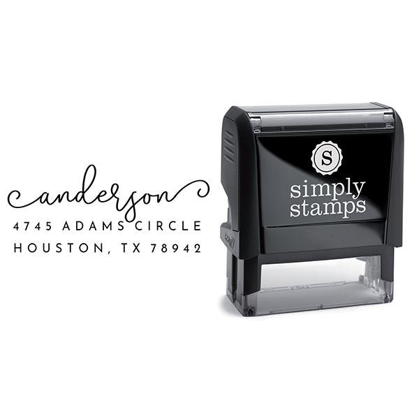 Anderson Handwritten Address Stamp Body and Design