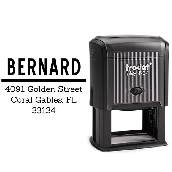 Bernard Bold Address Stamp Body and Design