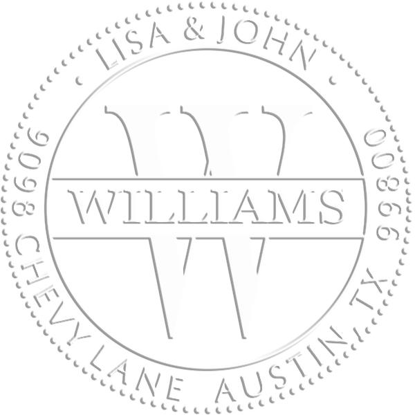 Williams Monogram Round Return Address Embosser