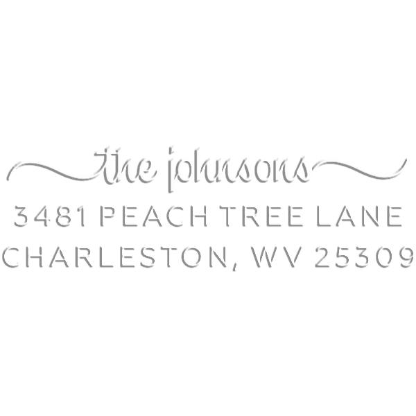 Charleston Rectangular Return Address Embosser
