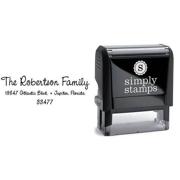 Robertson Family Handwritten Address Stamp Body and Imprint