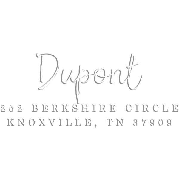 DuPont Brush Rectangular Return Address Embosser
