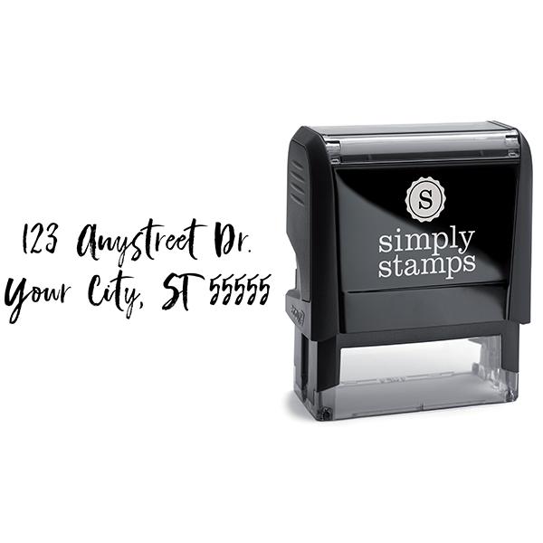 Script Custom 2 Line Stamp Body and Design
