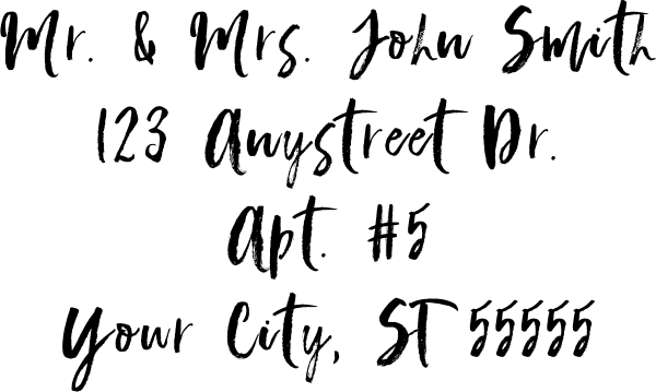 Script Custom 4 Line Stamp