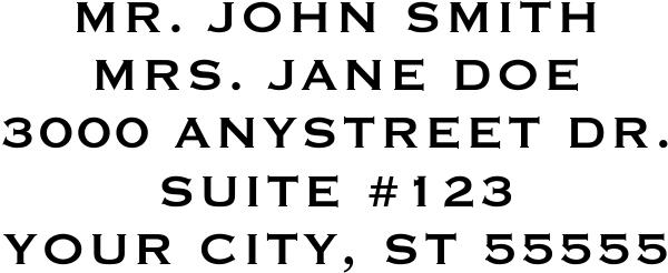 Book Style Custom 5 Line Stamp