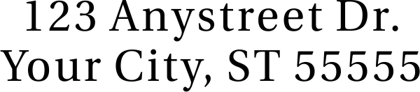 Serif Custom 2 Line Stamp