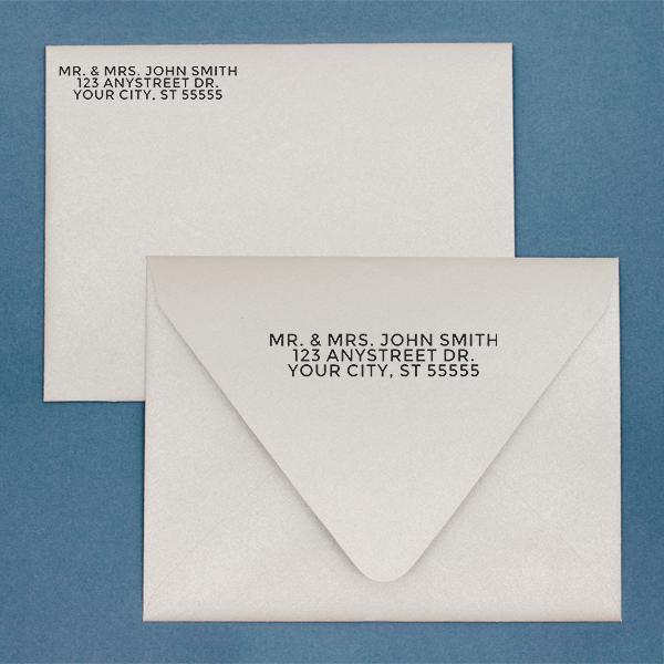 Bold Custom 3 Line Stamp Imprint Example