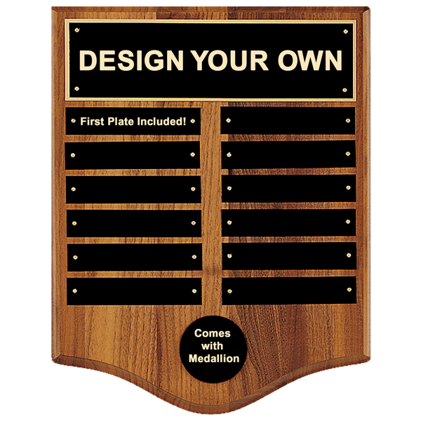 P2847/X 12x15 Perpetual Plaque with 12 plates and medallion