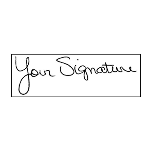 Extra Large Signature Stamp