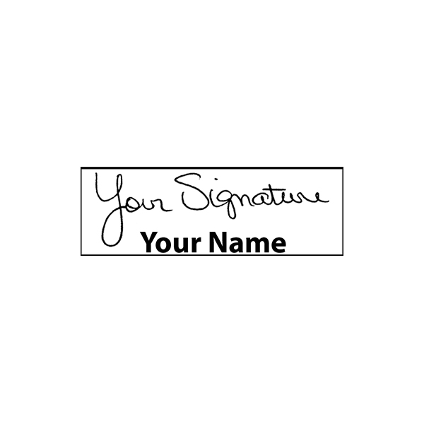 Small Signature Stamp Bottom