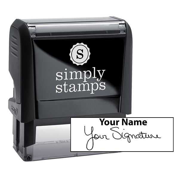 Large Signature Stamp Top
