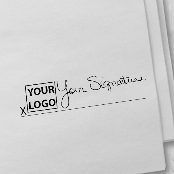 Large Signature Logo Stamp Imprint Example