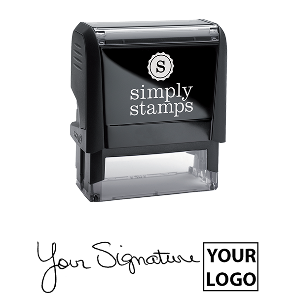Large Right Logo Signature Stamp Body and Design