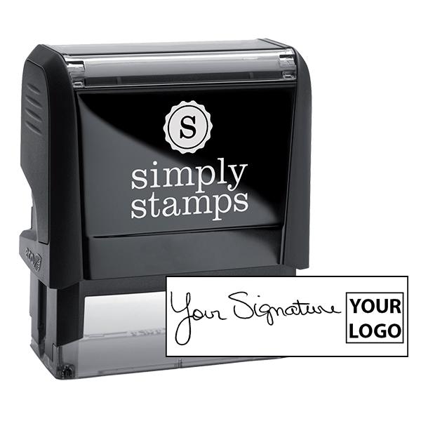 Large Right Logo Signature Stamp