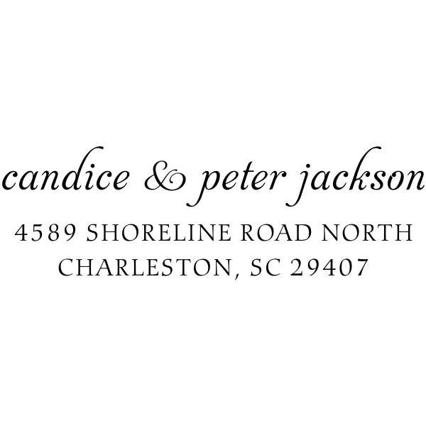 Jackson Handwritten Address Stamp