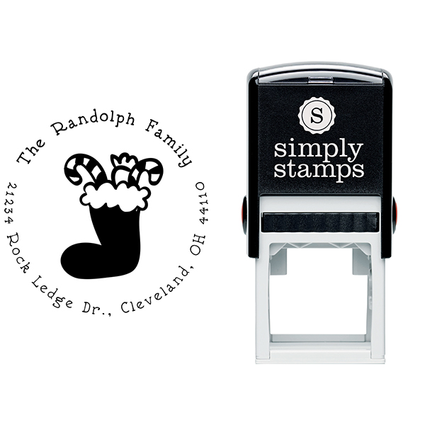 Stuffed Stocking Return Address Stamp Body and Imprint
