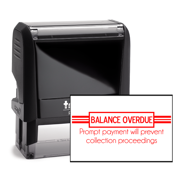 Balance Overdue Stamp