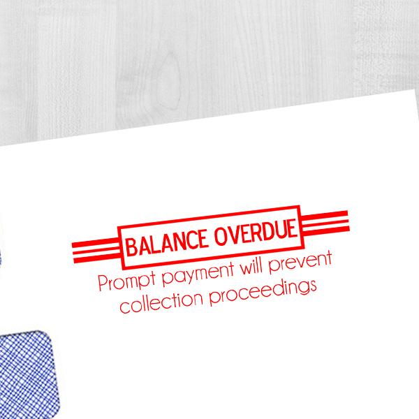 Balance Overdue Stamp Imprint Example