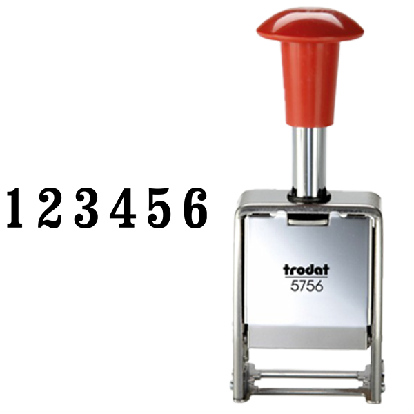 Trodat 5756/M Numbering Machine Body and Imprint