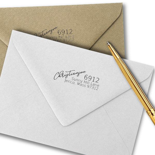 Christianson Address Stamp Imprint Example
