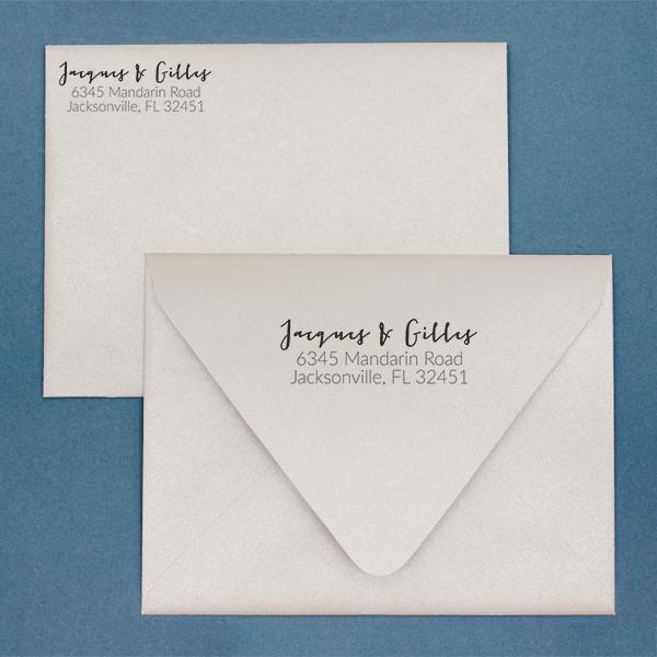 Gilles Address Stamp Imprint Example