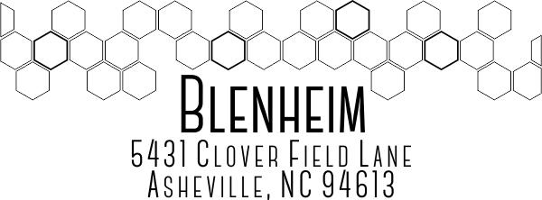 Blenheim Address Stamp