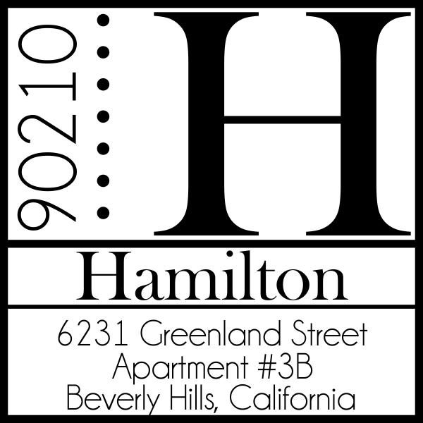 Hamilton Square Address Stamp