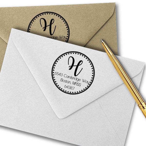 Cambridge Round Address Stamp Imprint Example