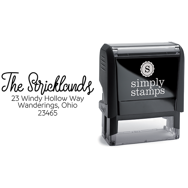 Strickland Address Stamp Body and Design