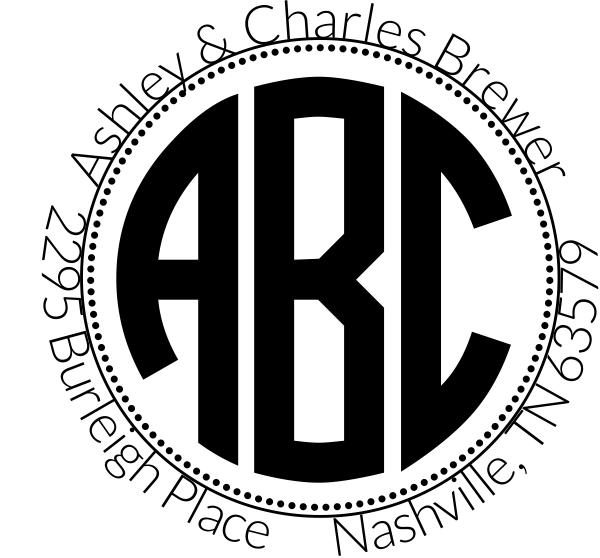 Brewer Monogram Address Stamp