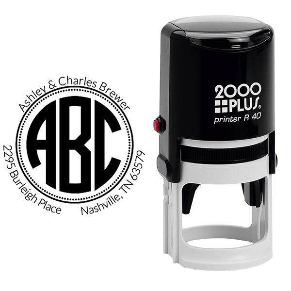 Brewer Monogram Address Stamp Body and Design