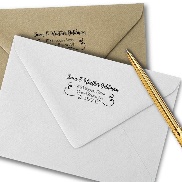 Goldman Address Stamp Imprint Example